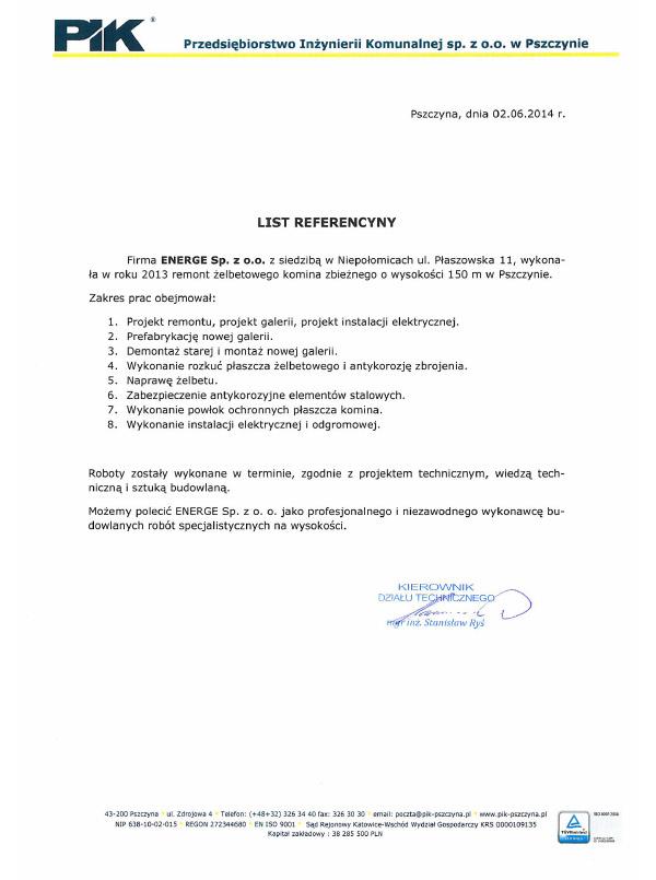 Przedsiębiorstwo Inżynierii Komunalnej Sp. z o.o. w Pszczynie